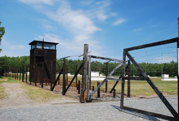 Brama techniczna w obozie KL Stutthof