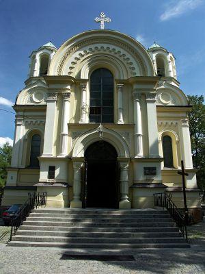 Kościół św. Jakuba w Częstochowie od strony Placu Władysława Biegańskiego
