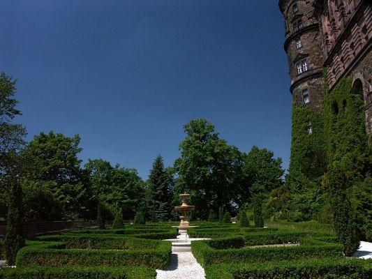 Taras Zachodni na zamku w Książu