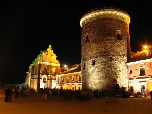 Dziedziniec Zamku w Lublinie nocą