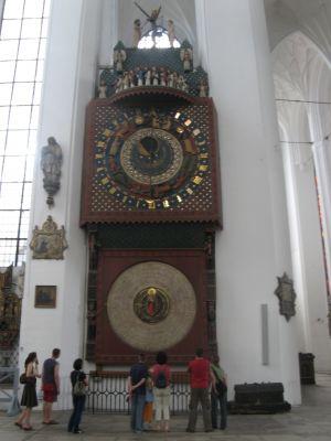 Gdańsk - Kościół Mariacki (zegar astronomiczny)