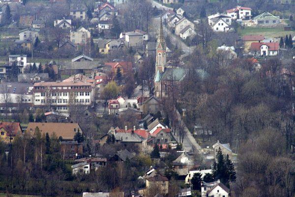 Panorama wsi Kozy