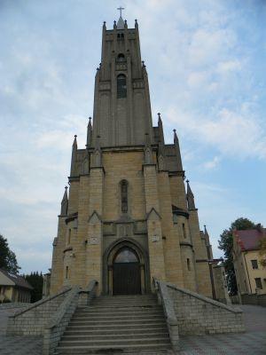Imielin, Kościół pw. Matki Boskiej Szkaplerznej, widok od frontu
