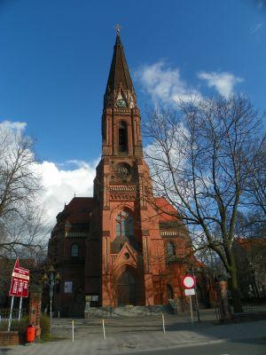 Katowice, Kościół pw. Świętych Apostołów Piotra i Pawła, widok od frontu