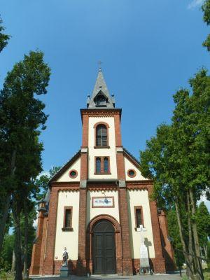 Rudy Wielkie, Kościół cmentarny, pw. św. Marii Magdaleny, widok od frontu