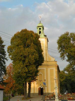 Pilchowice, Kościół pw. Ścięcia Świętego Jana Chrzciciela, elewacja frontowa