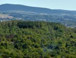 Świnia Góra(Góry Świętokrzyskie) na tle Pasma Łysogórskiego