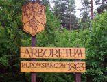 Arboretum w Kopnej Gorze tablica