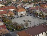 Widok układu urbanistycznego Bochni z wieży kościoła farnego