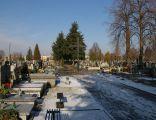 Cross and main alley of cemetery at Kurczaki st., Łódź, 001