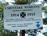 Cmentarz z I wojny światowej lata 1914-1918 Gnieździska 3