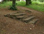 Cmentarz zydowski Olsztyn - schody
