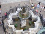 Fontanna neptuna gdansk widok z wiezy ratusza