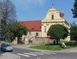 Złotoryja, kościół św. Jadwigi i plebania, widok od pd-zach.