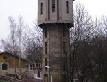 Pszczyna - wieża wodna, widok z peronu
