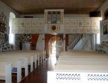 Kościół w Rusowie - widok od strony ołtarza