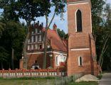 Dziektarzewo, kościół par. p.w. św. Katarzyny i dzwonnica; Kot