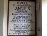 Pamiątkowa tablica w kościele w Bobrownikach DSC00044 krz