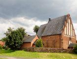 Kościół par. pw. św. Jadwigi, mur., XV w. ( str. pn. - zach. ) Dębowa Łęka