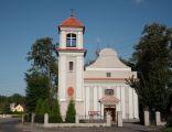Kościół parafialny w Kobyla Górze widok od przodu