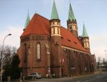Back of Church of Pope Saint Leo the Great in Wejherowo