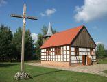 Kościół z Lasek Wałeckich w Muzeum Kultury Ludowej w Osieku nad Notecią