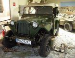 GAZ 67 B, ZSRR 1944, poj.sil.3200cm2, moc 54 KM, pręd. max 90 kmh.