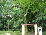 Park w Slupcy jedno z wejsc