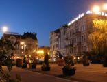 Bydgoszcz Plac Teatralny zmierzch