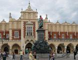 Adam Mickiewicz monument, Main Market square, Old Town, Krakow, Poland