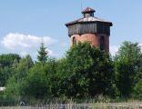 Wieża ciśnień na dworcu kolejowym w Nurcu-Stacji