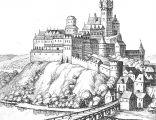 Cieszyn, Merian, 1650 - zamek
