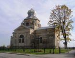 01 - Żurawce, Cerkiew greko-katolicka p.w. Krzyża Świętego, obecnie kościół parafialny, rzymskokatolicki, widok elewacji północnej