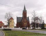 Drzewica, kościół św.Łukasza - wschodnia część miejskiego rynku