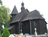 Drewniany kościół św Wawrzyńca w Laskowicach, wybudowany w 1686 roku.