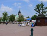 Główny plac miasta, dawny rynek - Plac Bartosza