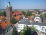 Kościół pw. św. Mikołaja w Byczynie - widok z wieży ratuszowej.
