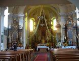 Ołtarz kościoła parafialnego p.w. Św. Trójcy w Byczynie