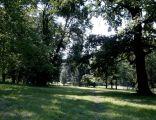 Park angielski przy pałacu w Krowiarkach