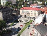 Plac św. Mikołaja w Bielsku-Białej. Widok z katedry św. Mikołaja
