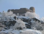 Ruiny Zamku Chojnik zimą