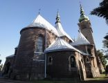 Tylna część kościoła św. Antoniego w Wojkowicach, widok z ulicy Długosza