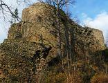 Zamek Cisy, XII-XIII wiek, ruiny