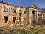 Zrujnowany pałac w Studzieńcu