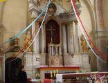 Ołtarz głowny w kościele w Międzylesiu k. Dobrego Miasta
