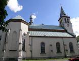 Kościół farny w Łańcucie - widok z boku