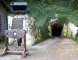 Wejście do zabytkowej kopalni złota w Złotym Stoku