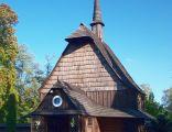 Zabytkowy, XVI-wieczny kościółek pw. Michała Archanioła w Parku Kościuszki w Katowicach