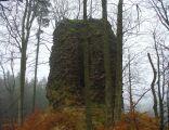 Pozostałości po wieży zamku Radosno