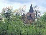 Dawny kościół św. Barbary, obecnie muzeum w Grębocinie
